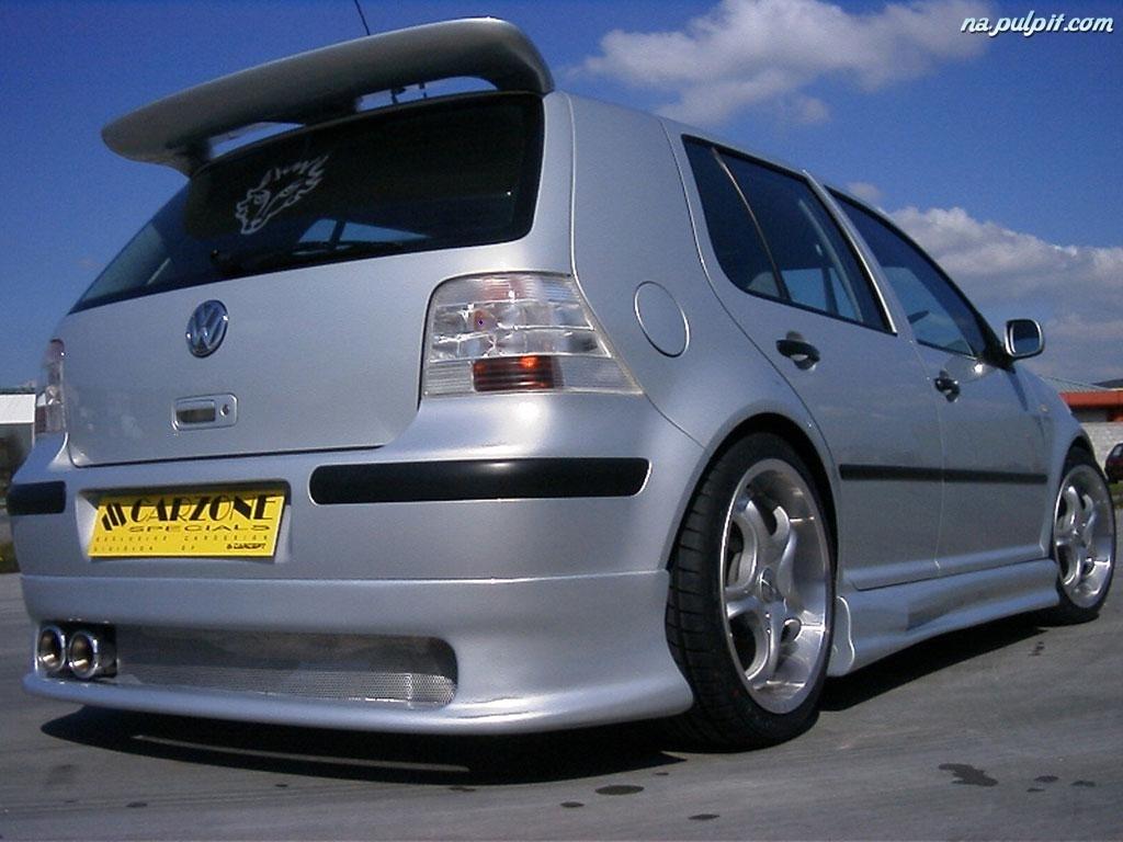 Volkswagen Golf 4  TUNING  Srebrny